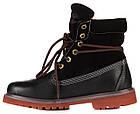 Женские ботинки Timberland Roll-Top (Тимберленд) в стиле черные, фото 3