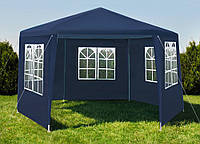 Павильйон, палатка садовая, шатер 5 стенок, Синий цвет