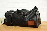 Именная спортивная сумка «Travel» |10152| Люксор гладкий| Черный