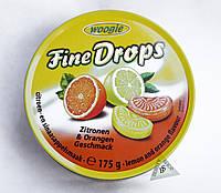 Fine Drops Woogie леденцы со вкусом цитрусовых апельсина лимона 175 гр