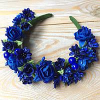 Ободок Роскошь новый (синий) , фото 1