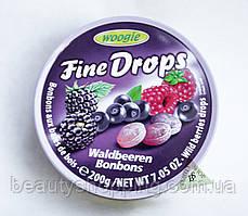Fine Drops Woogie леденцы со вкусом лесных ягод 200 гр
