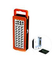 Переносной светодиодный аккумуляторный фонарь YJ-6816. Диодов: 27 + 6. Походный кемпинговый аварийный фонарь.