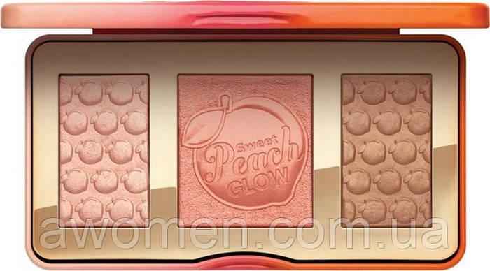 "Палетка-трио ""бронзер, хайлайтер, румяна"" Too Faced Sweet Peach Glow Peach (3 цвета)"