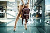 Рюкзак из натуральной кожи |11972| Фиолетовый