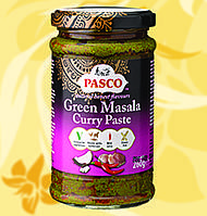 Карри паста, Масала,зеленая, Green Masala Curry Paste, Pasco, 270г, Дж