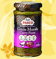 Каррі паста, Масала, зелена, Green Masala Curry Paste, Pasco, 270г, Дж