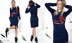 Трендовое платье спортивного типа с капюшоном.