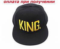 Кепка чоловіча стильна бейсболка хіп хоп реперка з прямим козирком KING Snapback, фото 1