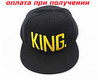 Мужская стильная кепка бейсболка хип хоп реперка с прямым козырьком KING Snapback