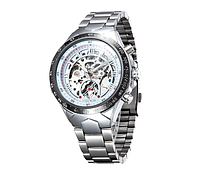 Механические часы с автоподзаводом Winner (silver-black)