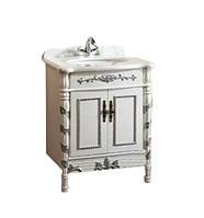 Тумба под умывальник Estandar Versailles 710*570*850мм,  белая-серебро
