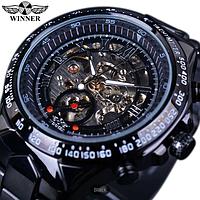 Механические часы с автоподзаводом Winner (black)