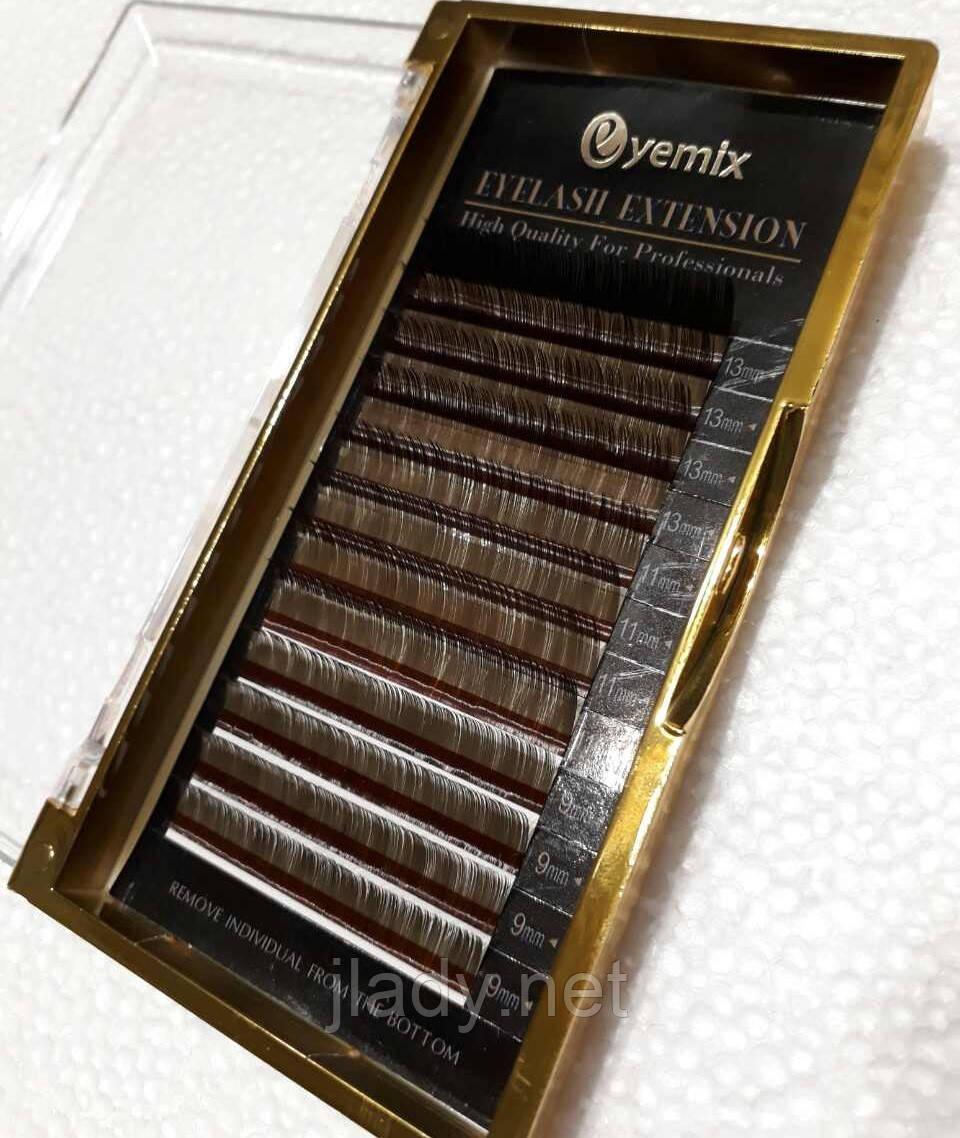 Ресницы тёмно коричневые Eyemix С, 0.07