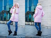 Молодежная прямая плащевая куртка с капюшоном в расцветках 31018