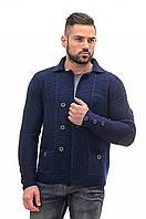 Пиджак мужской вязаный стильный темно-синий