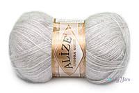 Alize Angora Gold, Светло серый меланж №208