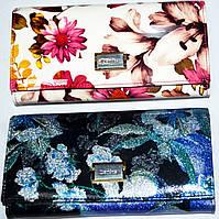 Женский черный кожаный кошелек на кнопке Danica (2 цвета), фото 1