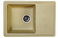 Гранитная мойка 62*44 одна чаша Valetti цвет старый камень серия Europe модель №35