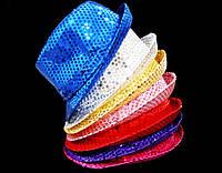 Карнавальная Шляпа Головной Убор Диско Светящаяся с Пайетками для Вечеринки