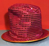 Карнавальная Шляпа Головной Убор Цилиндр Клоуна с Пайетками для Вечеринки