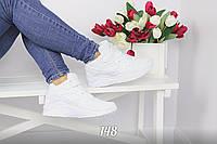 Высокие кроссовки хуарачи белые