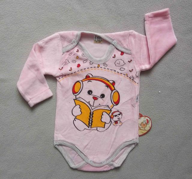 Детский велюровый боди для новорожденных на девочек 3-18 мес Турция