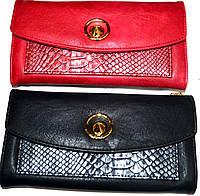 Женский черный кошелек клатч на молнии с ремешком на руку (2 цвета), фото 1