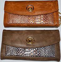 Женский черный кошелек клатч на молнии с ремешком на руку (3 цвета), фото 1