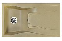 Кухонная гранитная мойка 86*50 Valetti цвет старый камень серия Europe модель №37