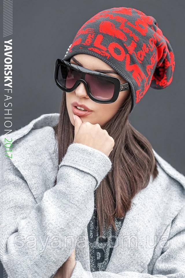 шапка и шарф в расцветках
