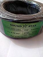 Кабель питания 2жилы х0,16мм.кв., CCA, чёрный, 100м