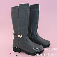 Серые зимние сапоги на молнии, марка обуви ТомМ р. 33,34,35,36,37,38