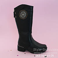 Черные зимние сапоги, марка обуви ТомМ р. 33,34