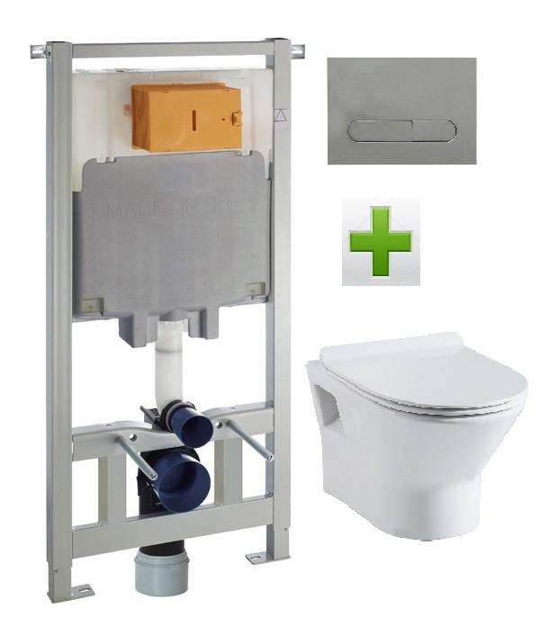 Комплект: FIESTA RIM унитаз подвесной, сиденье SLIM+Комплект инсталляции Volle Master 3в1