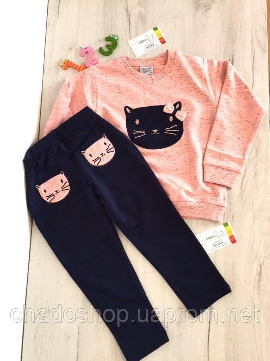 Набор для девочки реглан и спортивные штаны