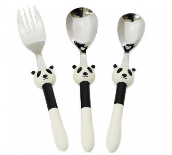"""Набор столовых приборов """"Панда"""" из нержавеющей стали с пластиковой ручкой Fissman"""