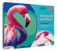 Набор акриловой живопись по номерам, Pink flamingo