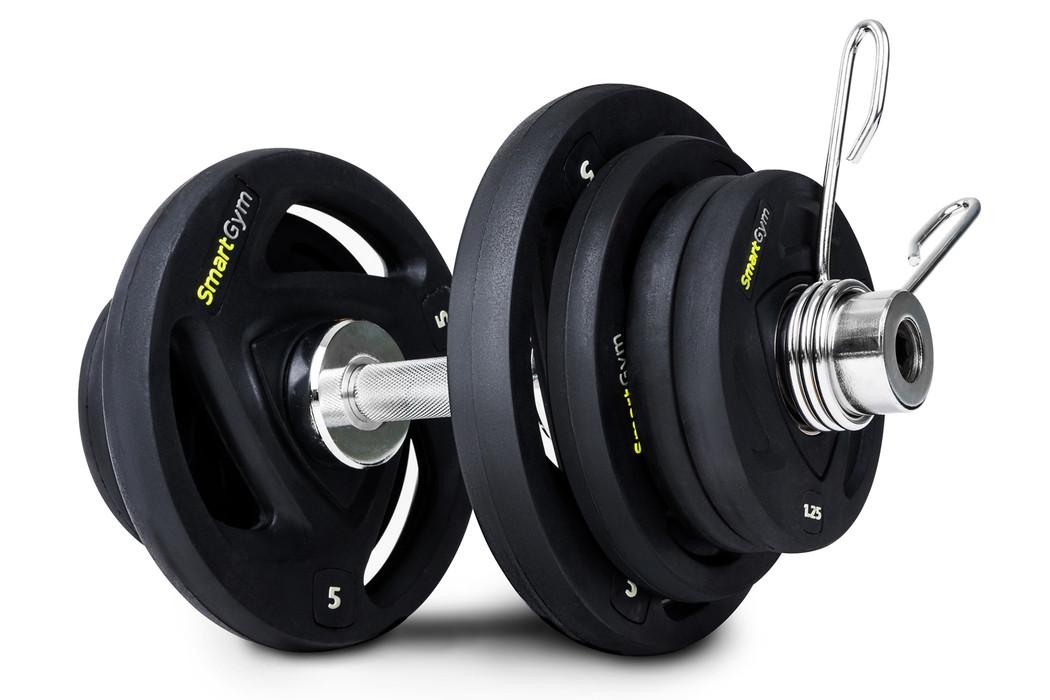 Гантеля олимпийская обрезиненная SmartGym 26 кг