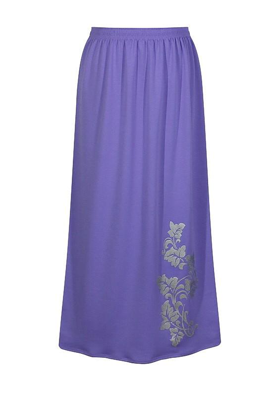 фото teens.ua - модная юбка макси из французского трикотажа сиреневого цвета