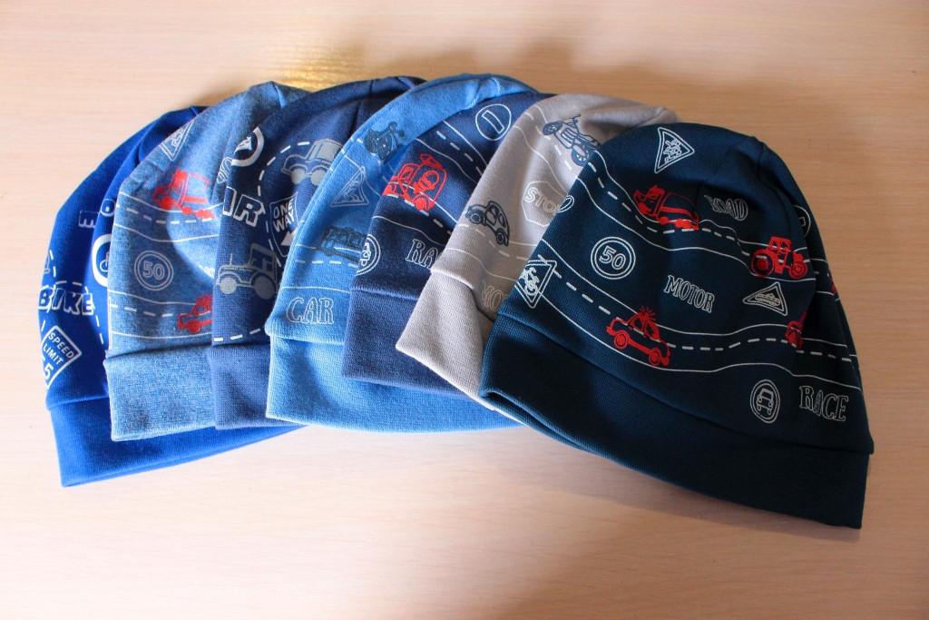 Трикотажные шапки на мальчика Дорога 46-48 см
