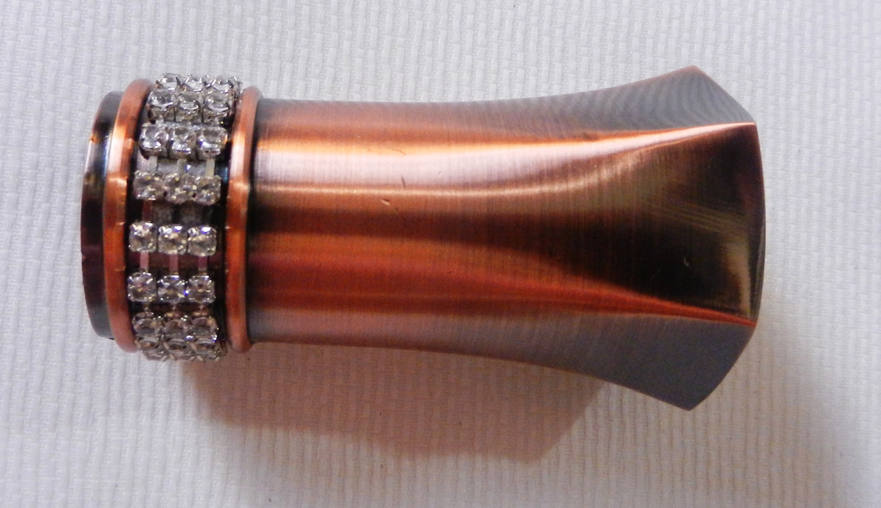 Плутон с кристаллом д. 25 мм, медь античная