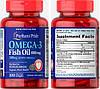 Puritan's Pride, Рыбий жир, Омега-3, 1000 мг, 100 капсул