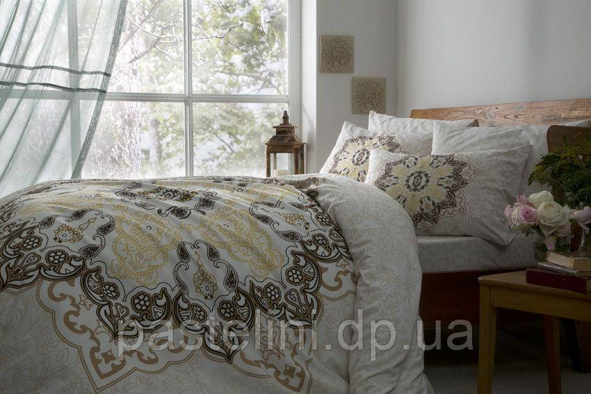 ТАС Madelina kahve полуторный комплект постельного белья