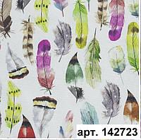 Ткань с акриловой пропиткой цветные перья