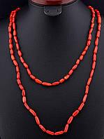 045777 Бусы Коралл  длинные 120 см.  украшение из коралла