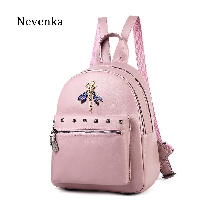 Рюкзак жіночий шкіряний Фея (рожевий)