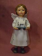 Ангел керамический с лошадкой 15см. высота