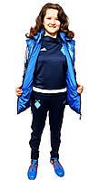 Спортивный женский комплект Adidas Динамо  (костюм + жилетка)