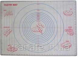 Силиконовый коврик для раскатки теста, коврик для запекания с разметкой 60х46см, профессиональный